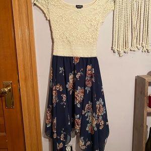 4 / $25 Rue 21 Rustic Floral Lace Dress, XS